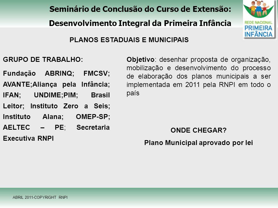 Seminário de Conclusão do Curso de Extensão: