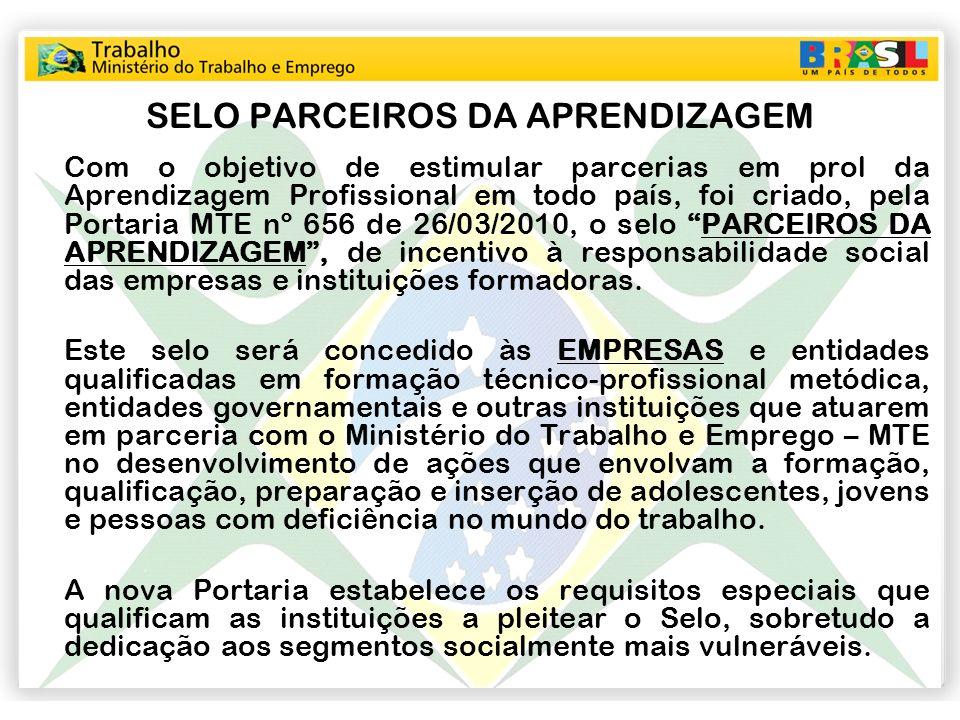 SELO PARCEIROS DA APRENDIZAGEM