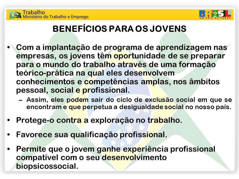 BENEFÍCIOS PARA OS JOVENS
