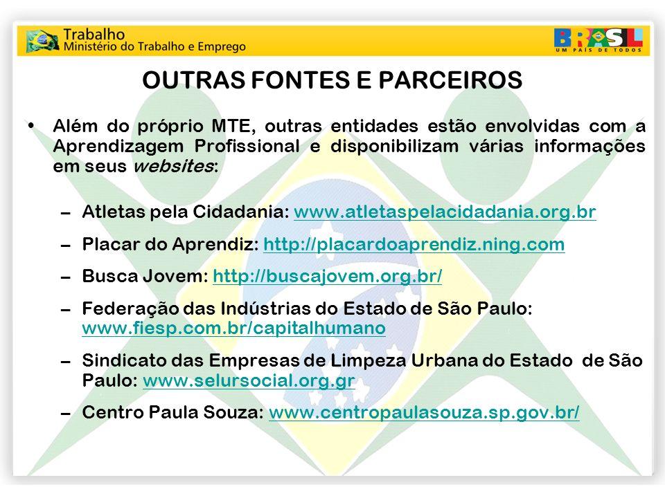 OUTRAS FONTES E PARCEIROS