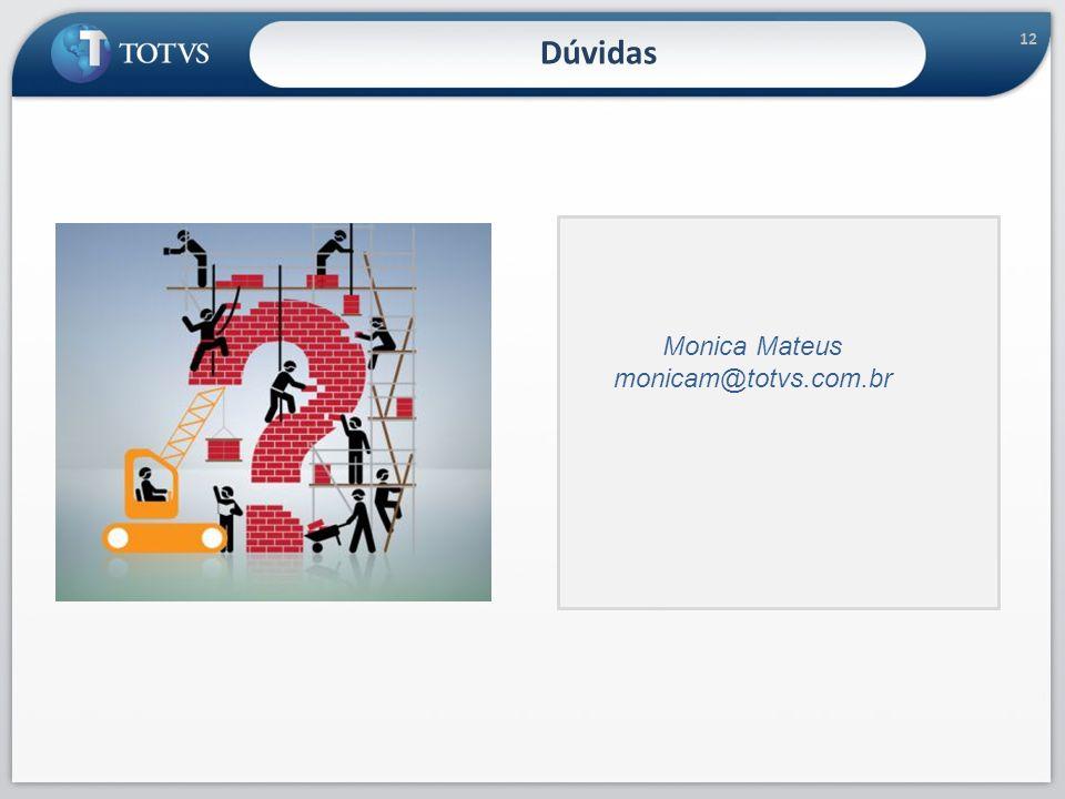 12 Dúvidas Monica Mateus monicam@totvs.com.br 12