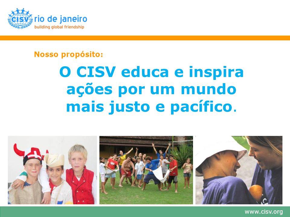 O CISV educa e inspira ações por um mundo mais justo e pacífico.