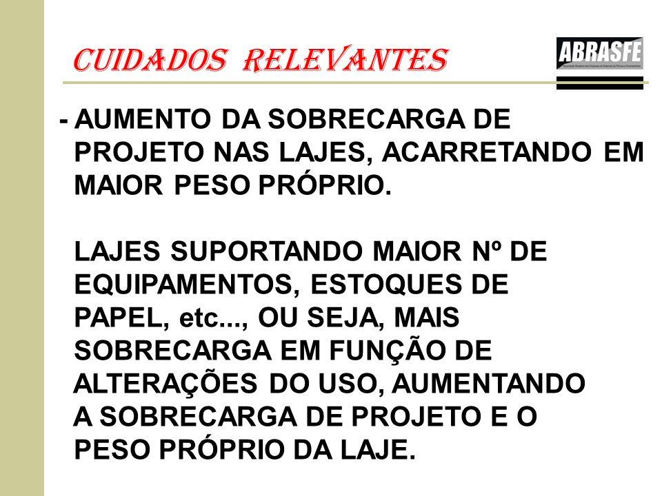 CUIDADOS RELEVANTES - AUMENTO DA SOBRECARGA DE
