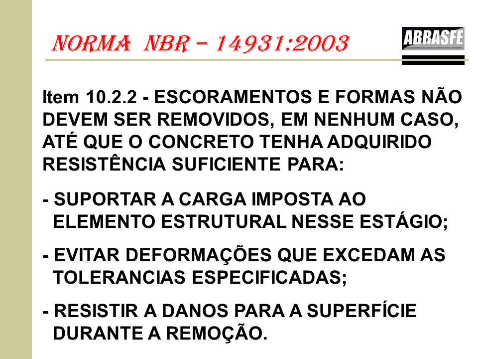 nOrma nbr – 14931:2003