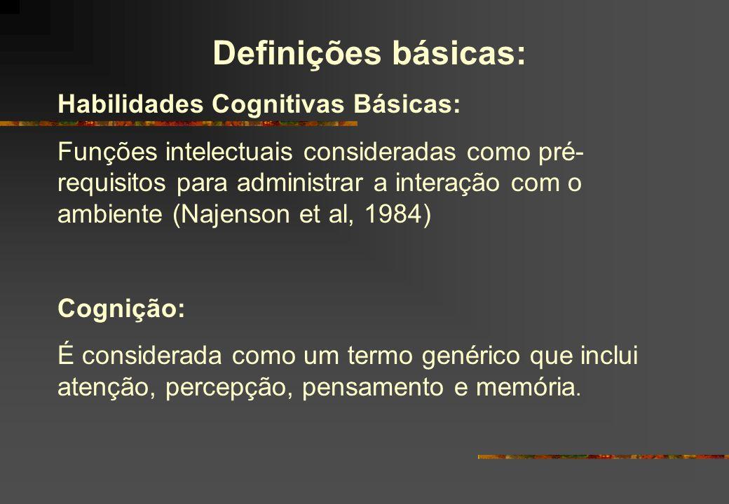 Definições básicas: Habilidades Cognitivas Básicas: