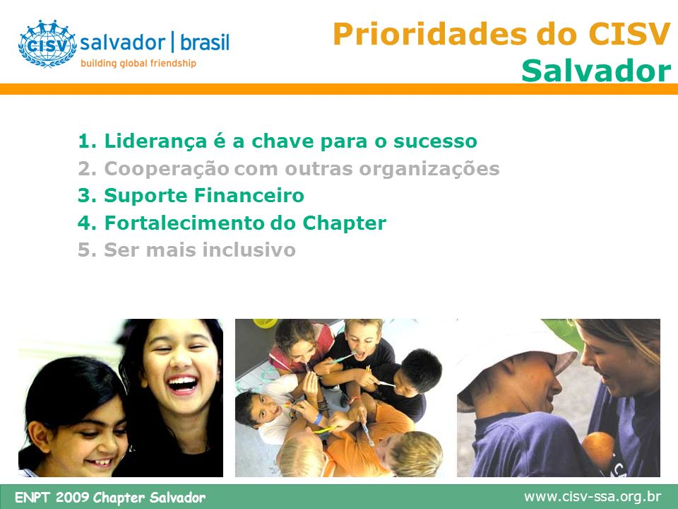 Prioridades do CISV Salvador