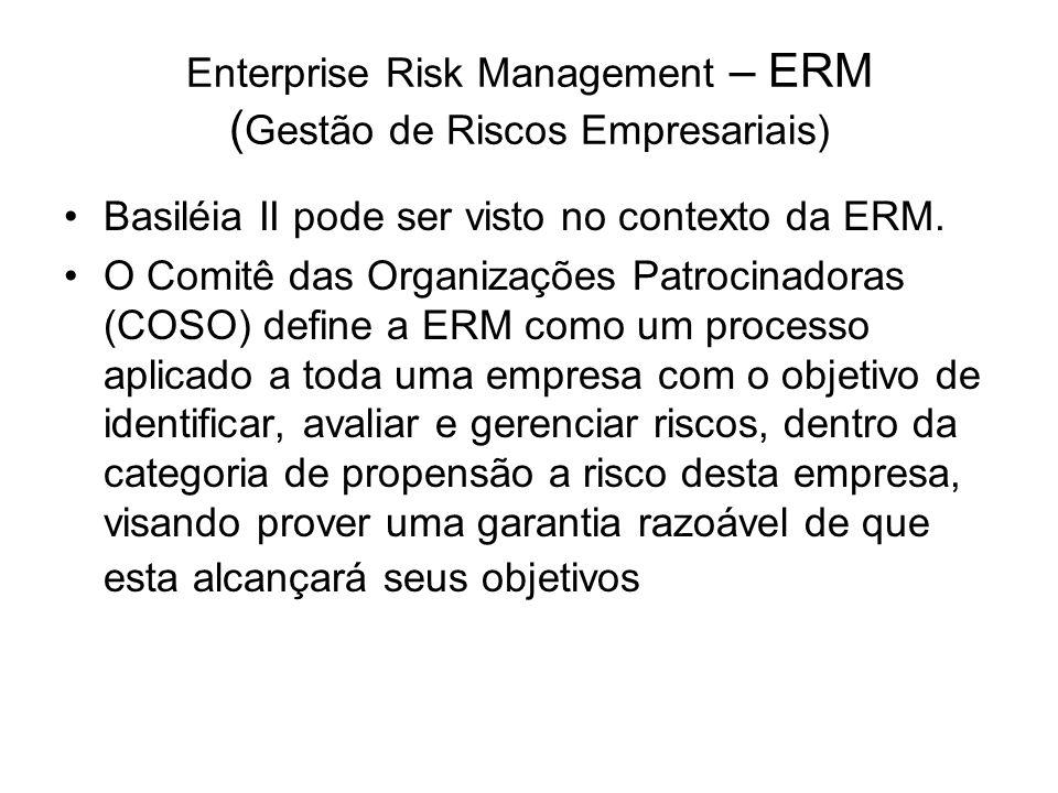 Enterprise Risk Management – ERM (Gestão de Riscos Empresariais)