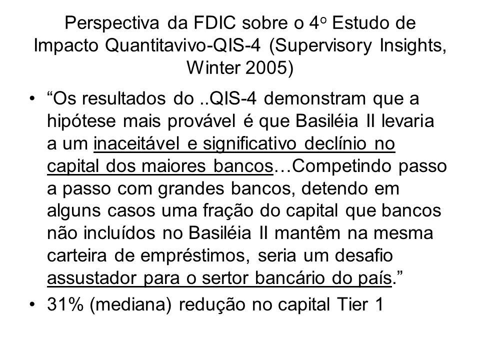 Perspectiva da FDIC sobre o 4o Estudo de Impacto Quantitavivo-QIS-4 (Supervisory Insights, Winter 2005)