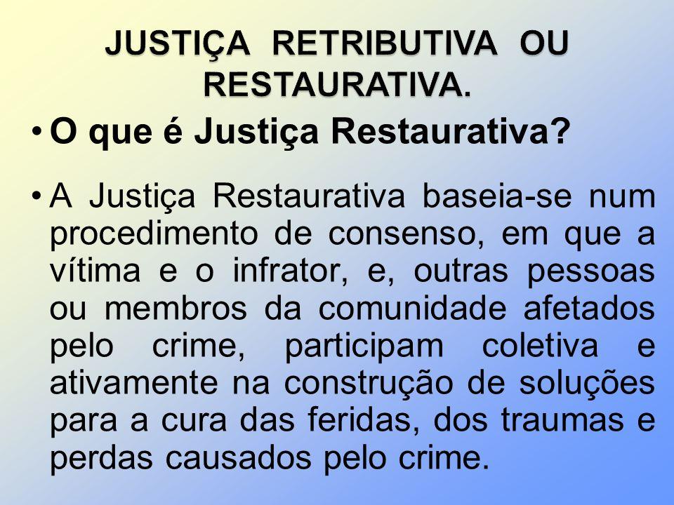 JUSTIÇA RETRIBUTIVA OU RESTAURATIVA.