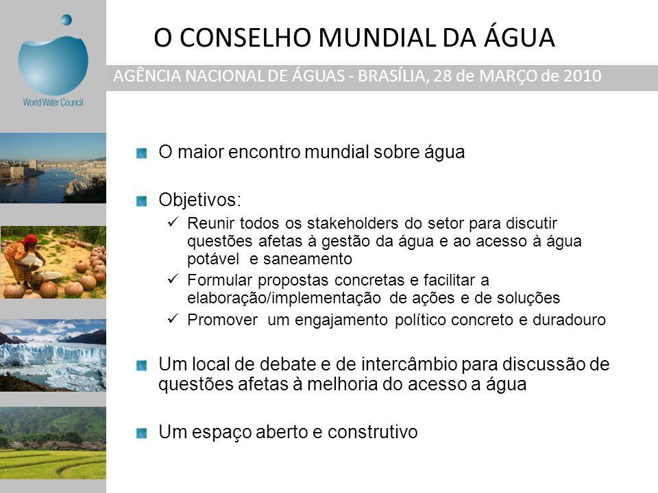 O CONSELHO MUNDIAL DA ÁGUA