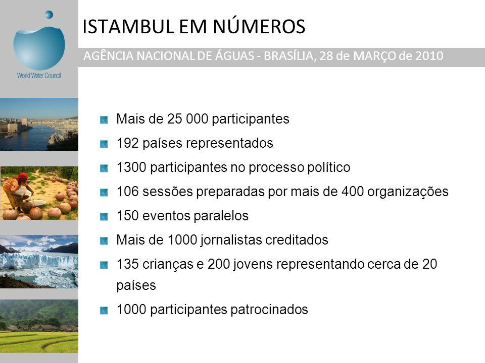 ISTAMBUL EM NÚMEROS AGÊNCIA NACIONAL DE ÁGUAS - BRASÍLIA, 28 de MARÇO de 2010. Mais de 25 000 participantes.