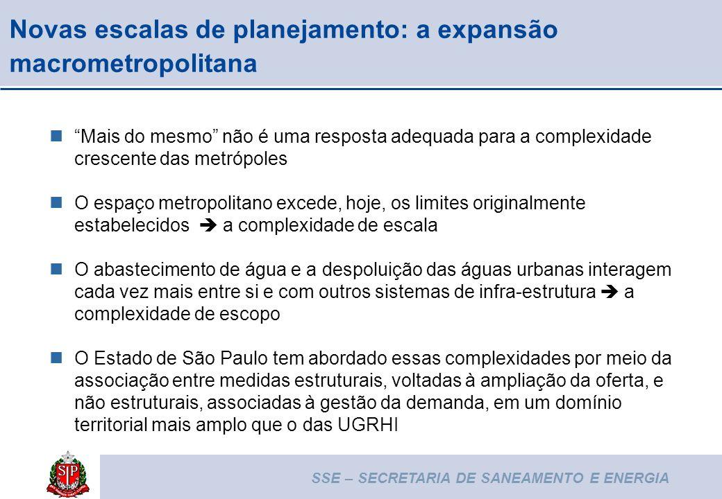 Novas escalas de planejamento: a expansão macrometropolitana