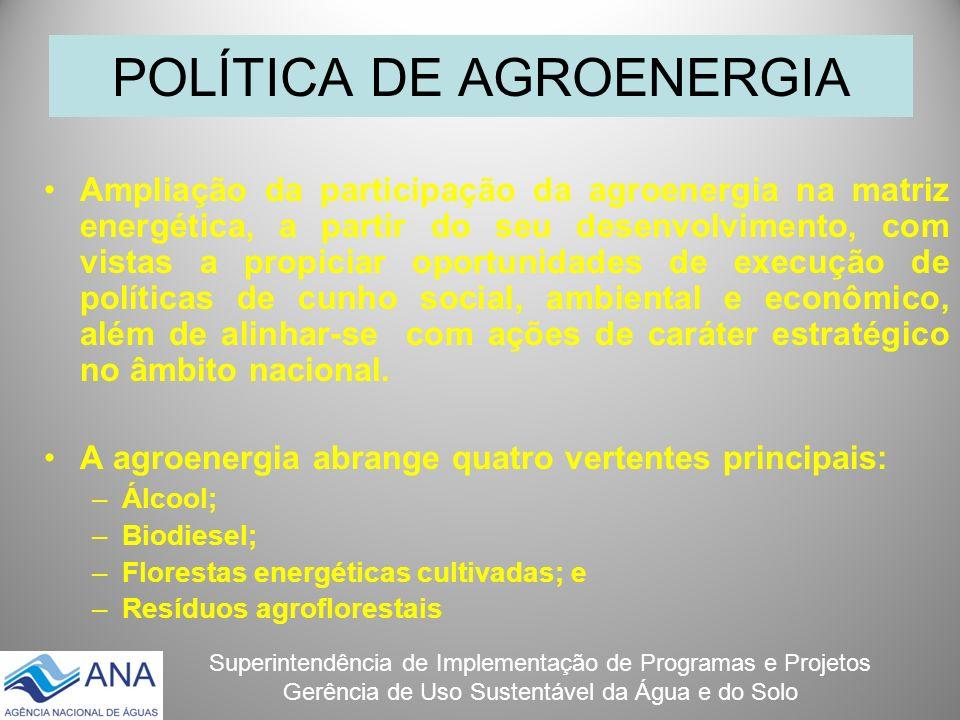 POLÍTICA DE AGROENERGIA