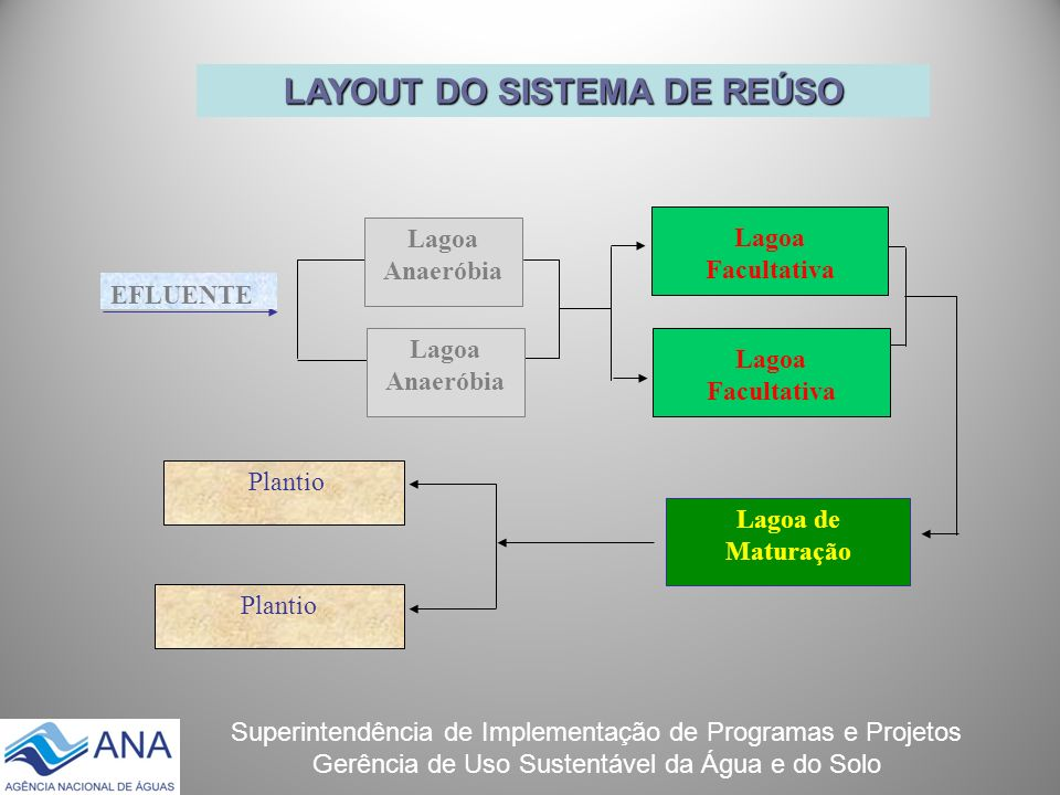 LAYOUT DO SISTEMA DE REÚSO