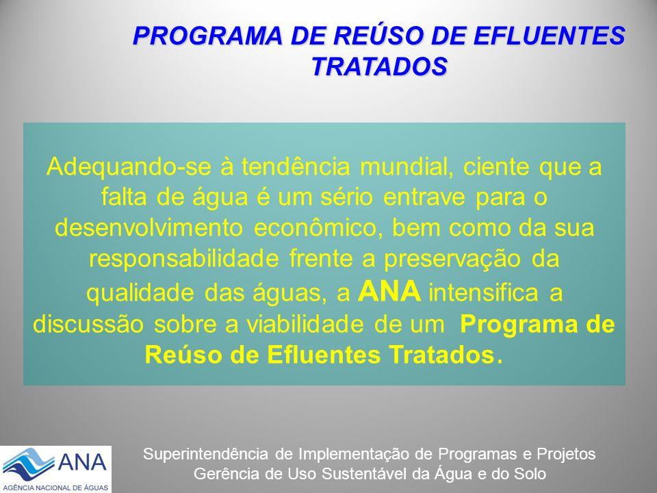 PROGRAMA DE REÚSO DE EFLUENTES TRATADOS