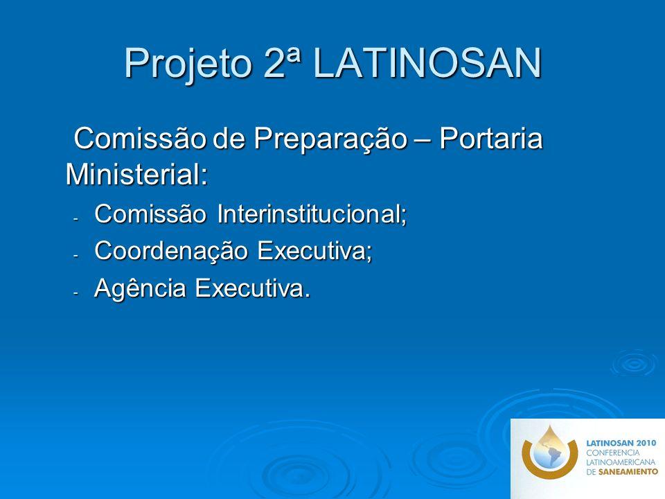 Projeto 2ª LATINOSAN Comissão de Preparação – Portaria Ministerial: