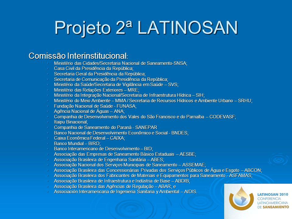 Projeto 2ª LATINOSAN Comissão Interinstitucional: