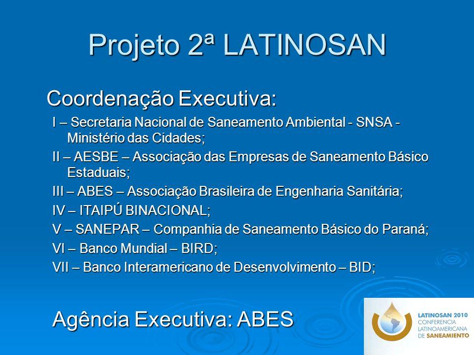 Projeto 2ª LATINOSAN Coordenação Executiva: Agência Executiva: ABES