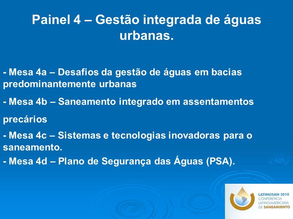 Painel 4 – Gestão integrada de águas urbanas.