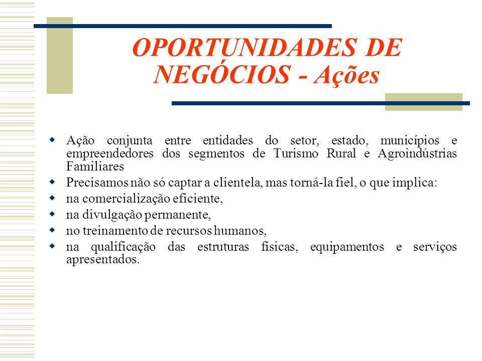 OPORTUNIDADES DE NEGÓCIOS - Ações