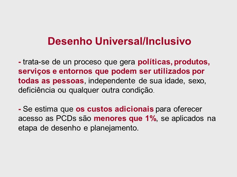 Desenho Universal/Inclusivo