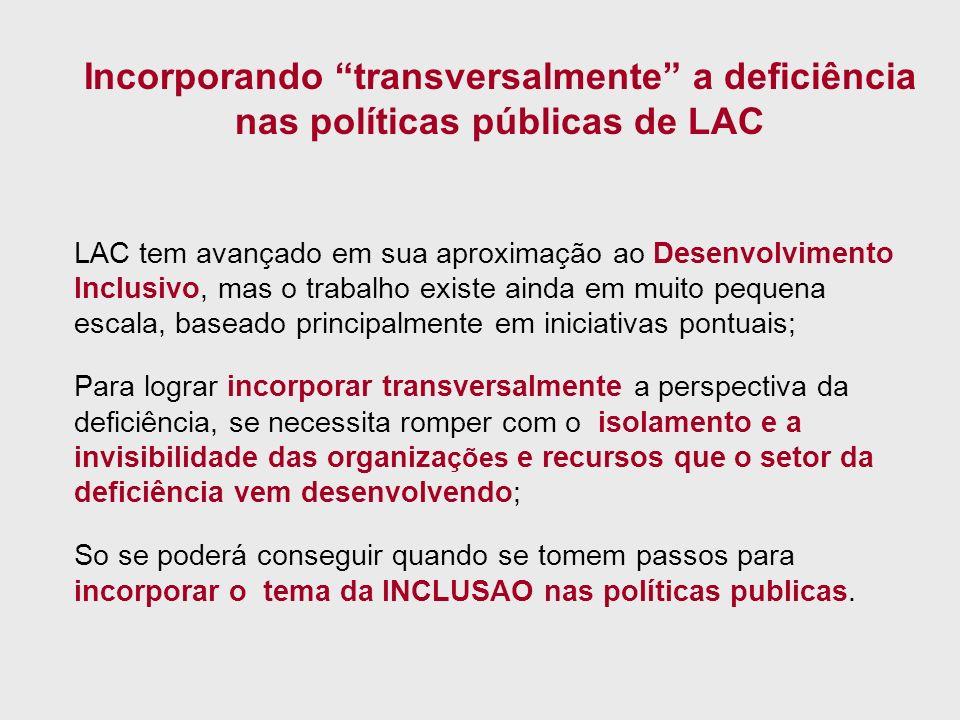 Incorporando transversalmente a deficiência nas políticas públicas de LAC