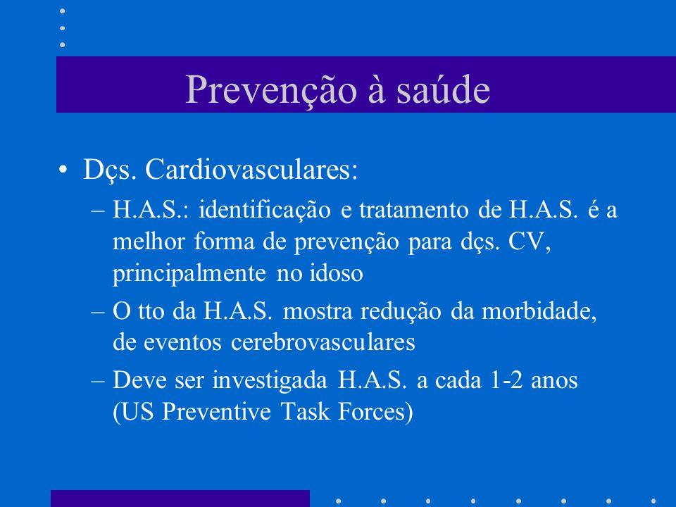 Prevenção à saúde Dçs. Cardiovasculares: