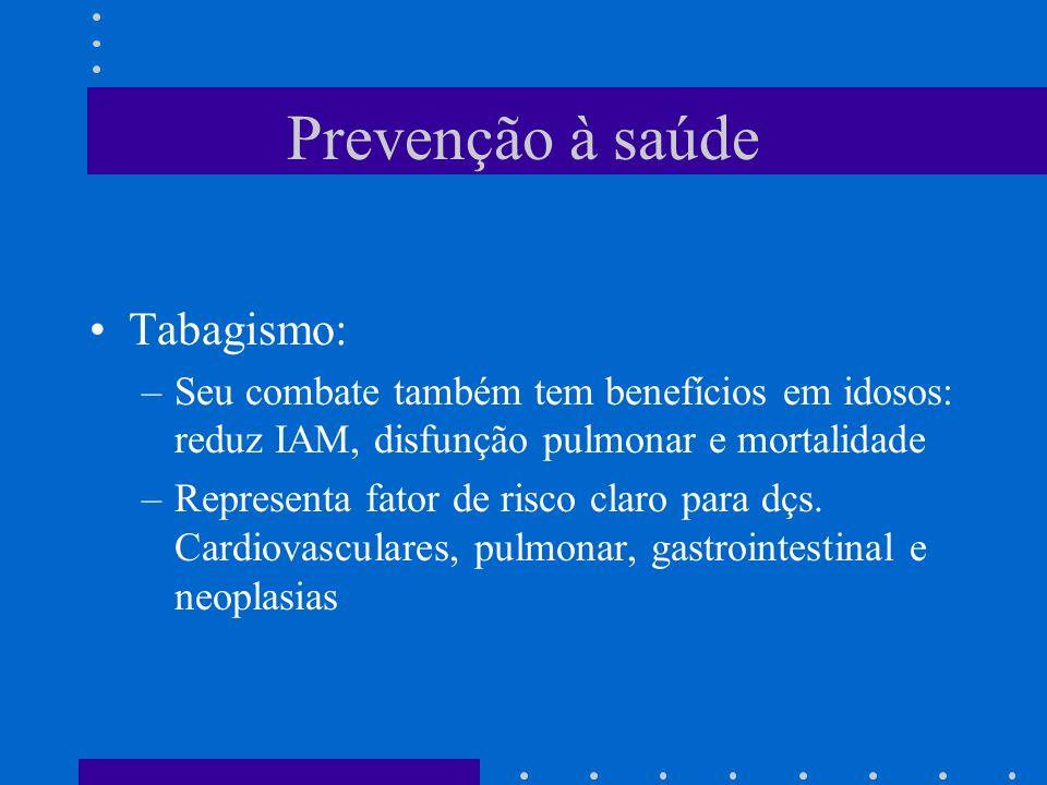 Prevenção à saúde Tabagismo: