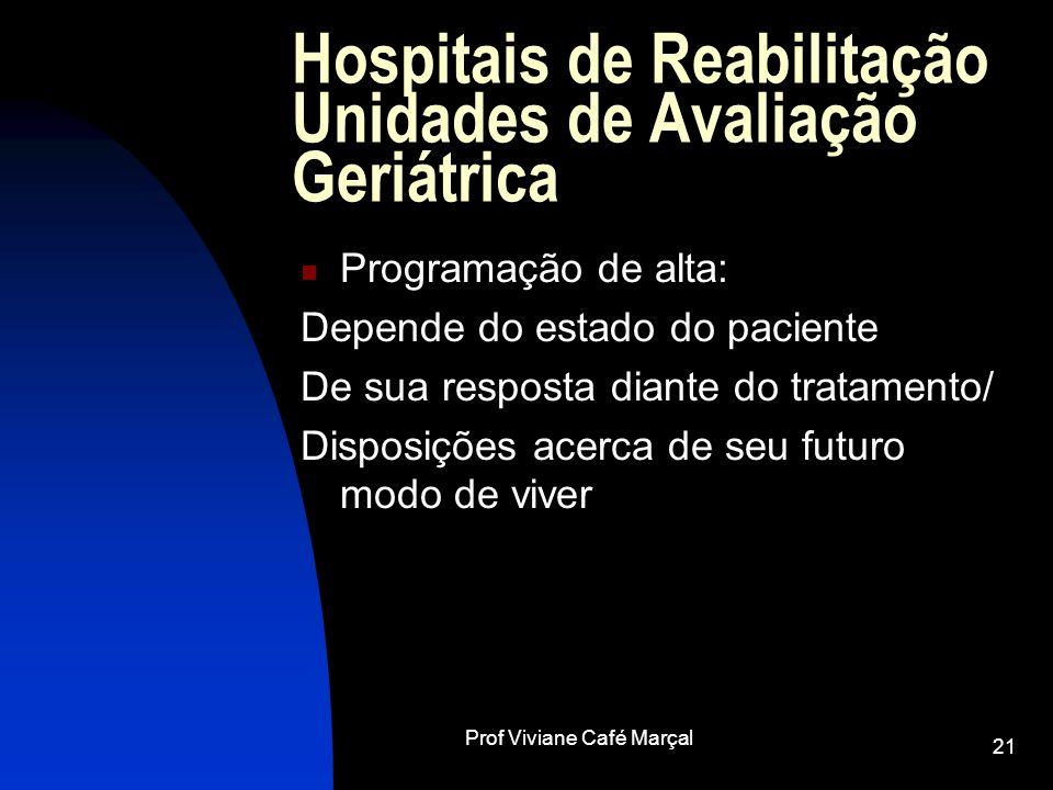 Hospitais de Reabilitação Unidades de Avaliação Geriátrica