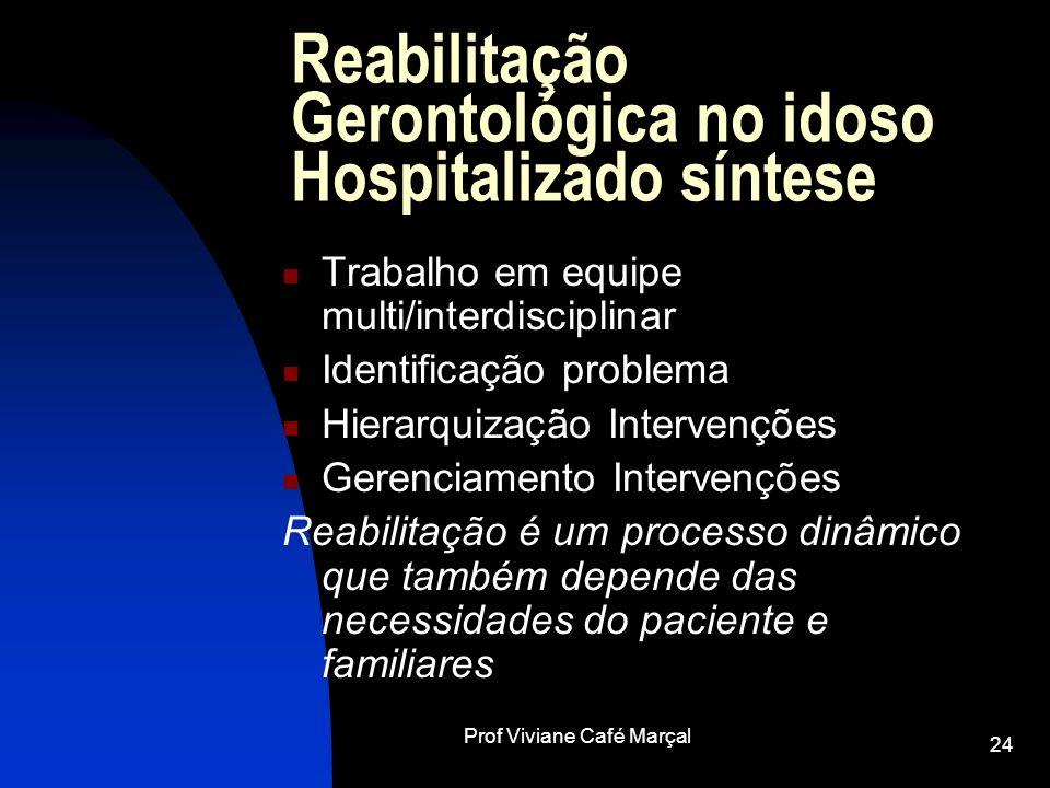 Reabilitação Gerontológica no idoso Hospitalizado síntese