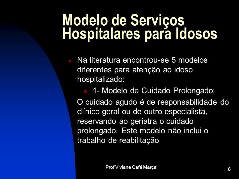 Modelo de Serviços Hospitalares para Idosos