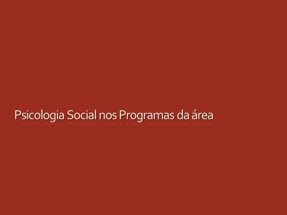 Psicologia Social nos Programas da área