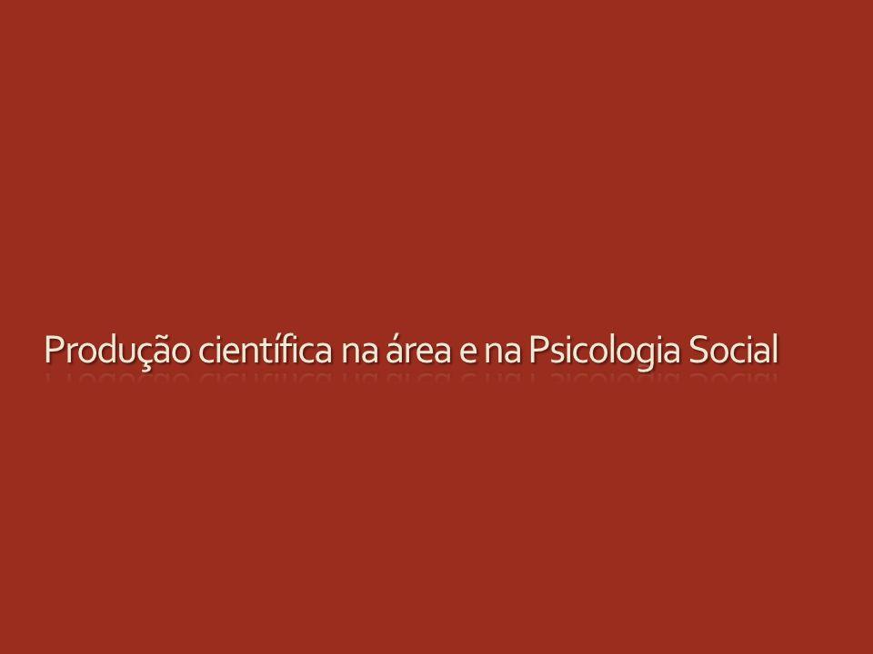 Produção científica na área e na Psicologia Social