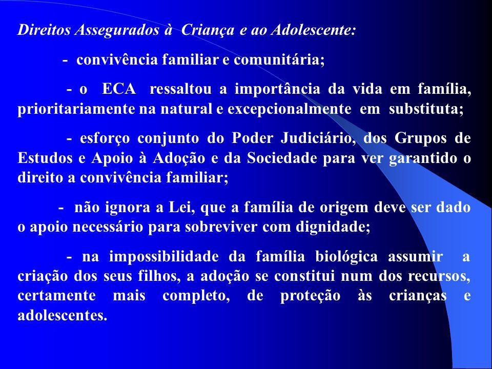Direitos Assegurados à Criança e ao Adolescente: