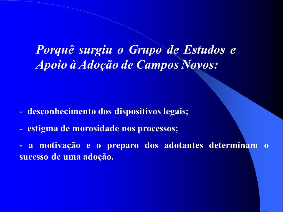 Porquê surgiu o Grupo de Estudos e Apoio à Adoção de Campos Novos: