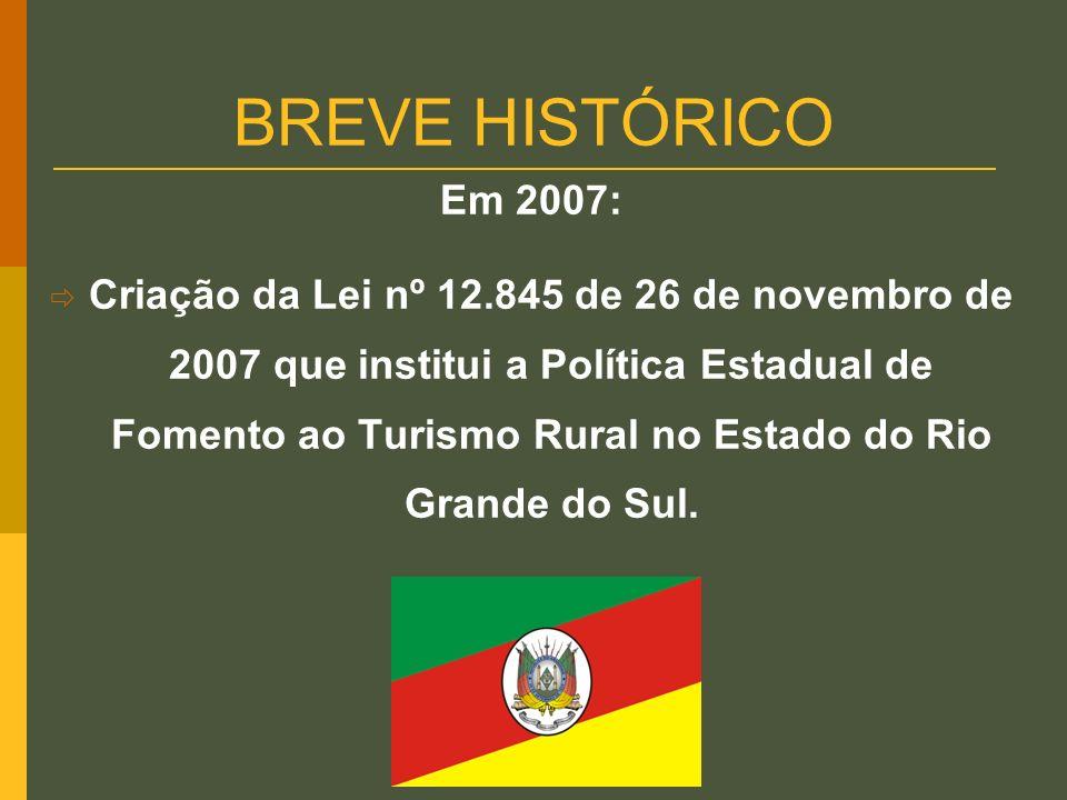 BREVE HISTÓRICO Em 2007: