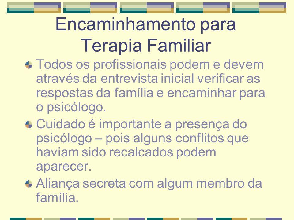 Encaminhamento para Terapia Familiar