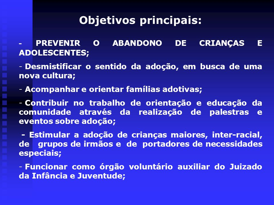 Objetivos principais: