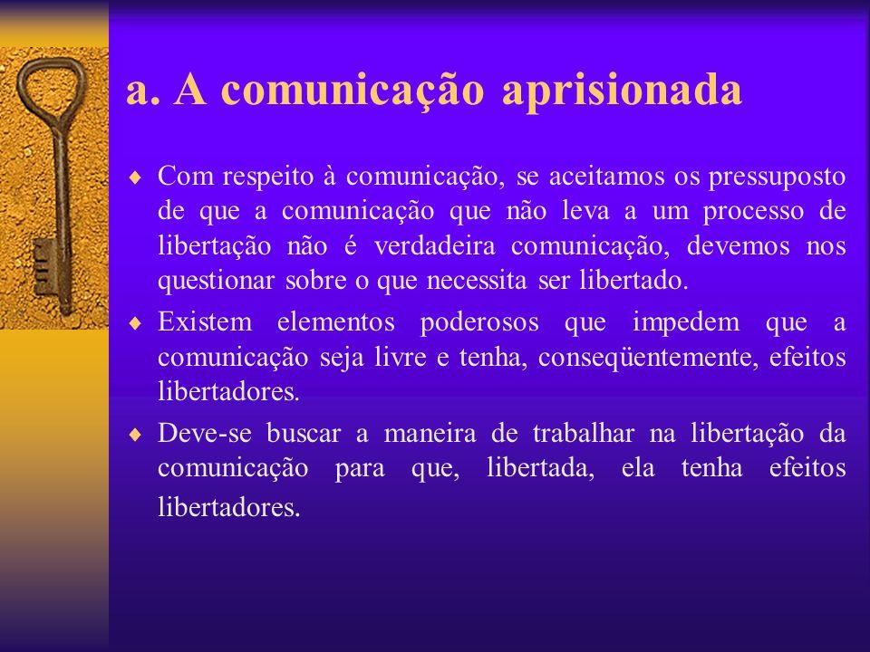 a. A comunicação aprisionada