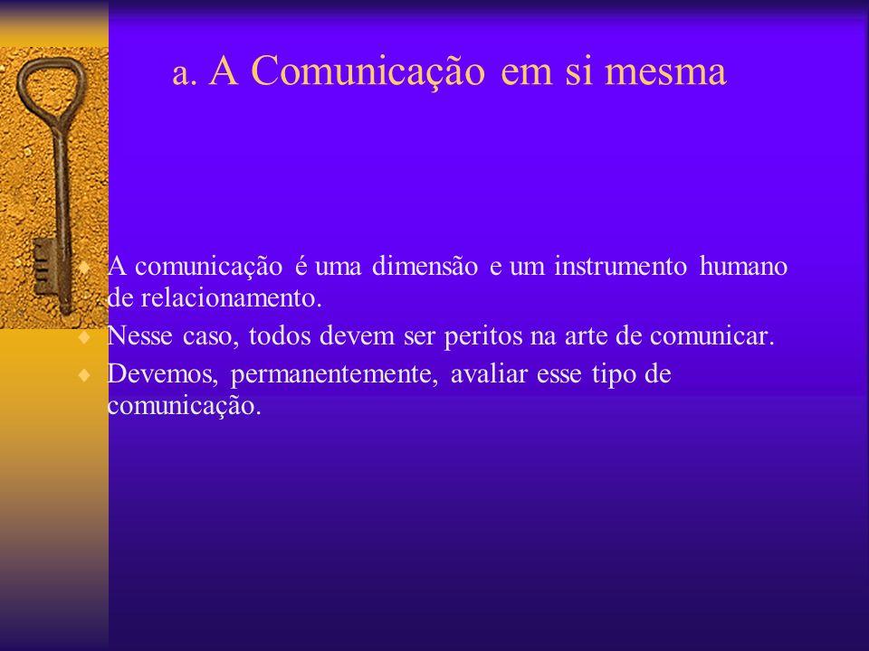 a. A Comunicação em si mesma