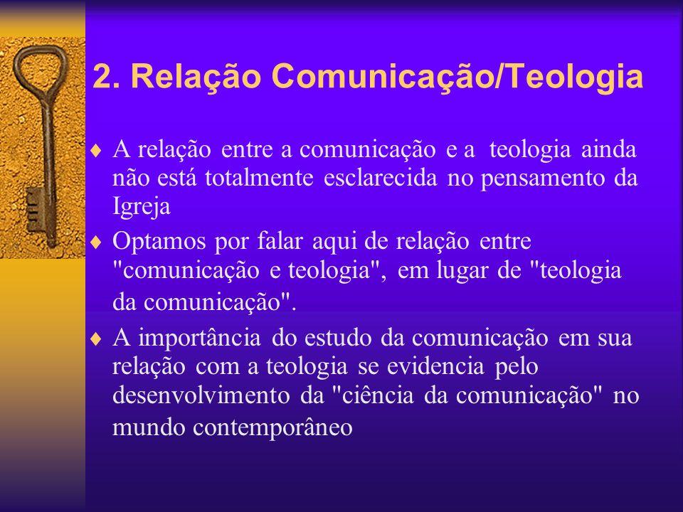 2. Relação Comunicação/Teologia