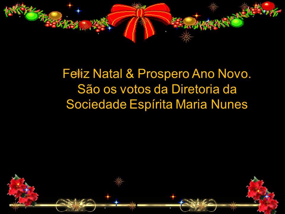 Feliz Natal & Prospero Ano Novo. São os votos da Diretoria da