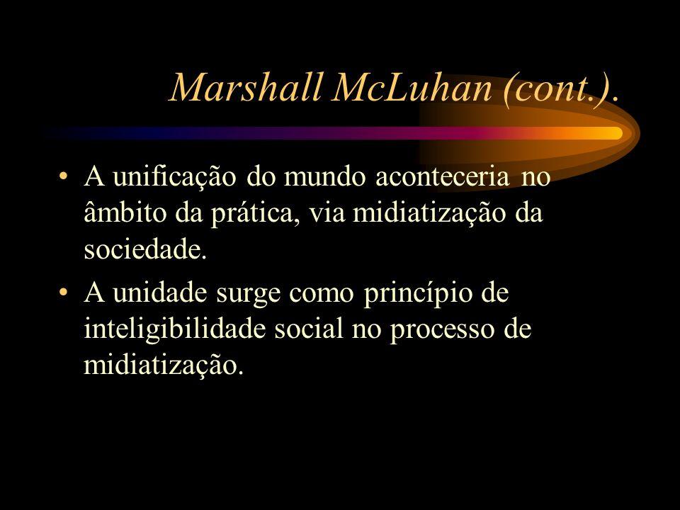 Marshall McLuhan (cont.).