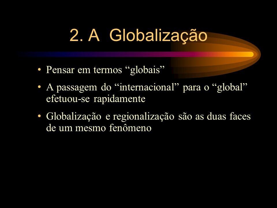 2. A Globalização Pensar em termos globais