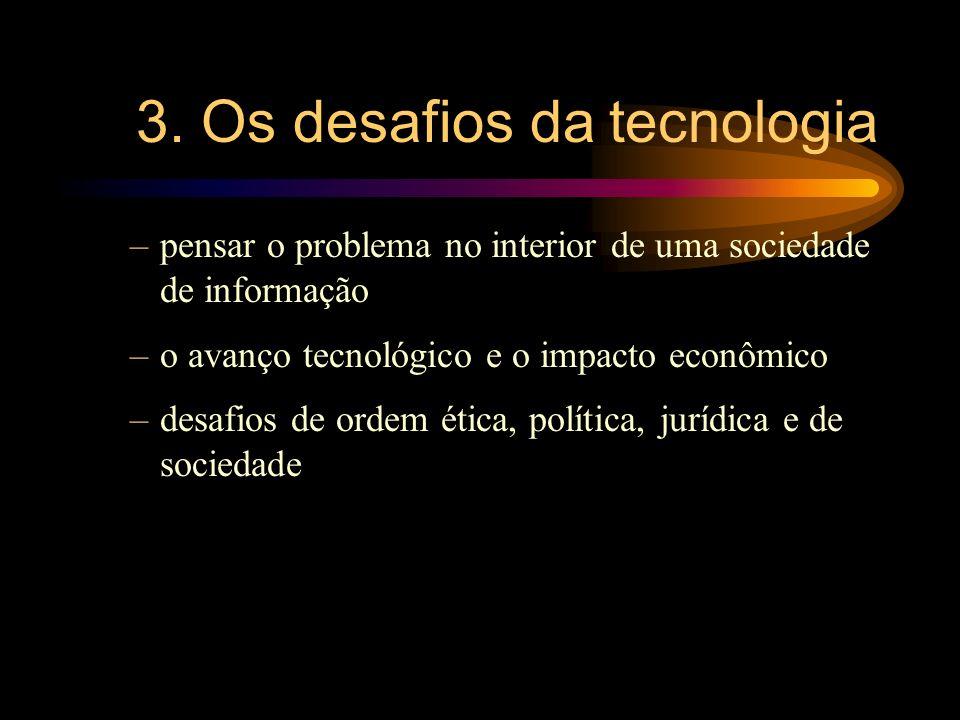 3. Os desafios da tecnologia
