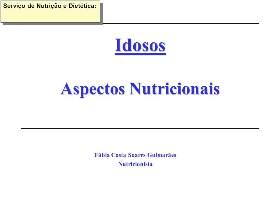 Idosos Aspectos Nutricionais