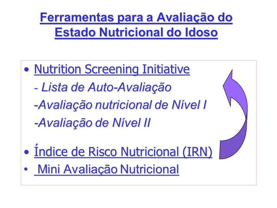 Ferramentas para a Avaliação do Estado Nutricional do Idoso