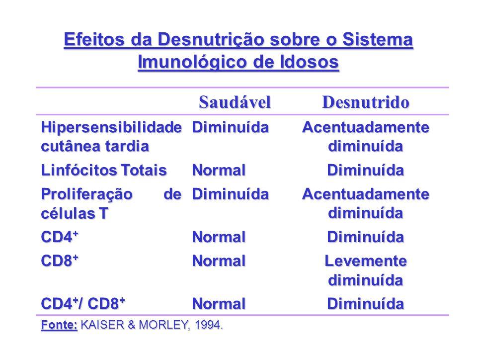 Efeitos da Desnutrição sobre o Sistema Imunológico de Idosos