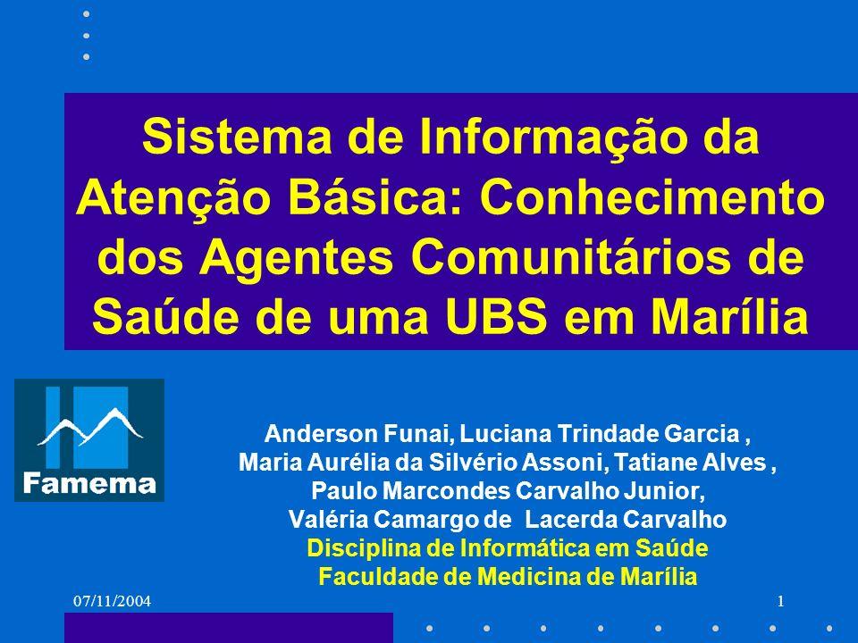 Sistema de Informação da Atenção Básica: Conhecimento dos Agentes Comunitários de Saúde de uma UBS em Marília