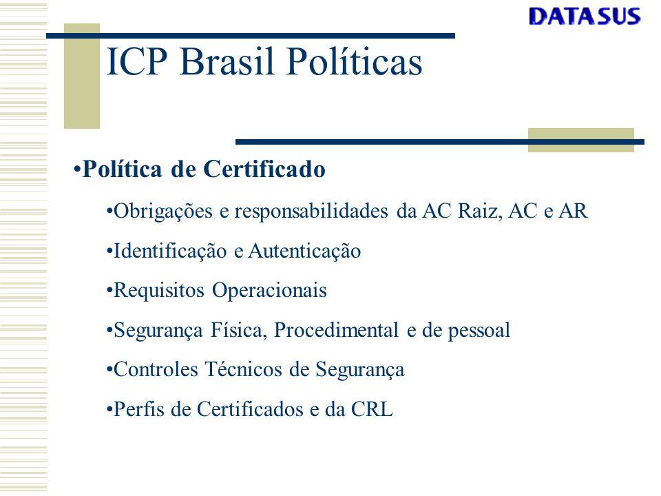ICP Brasil Políticas Política de Certificado
